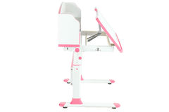Różowy szkolny biurko Obrazy Stock
