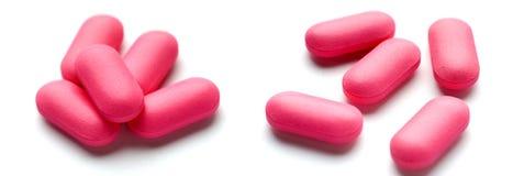 różowy tabletek Obraz Royalty Free