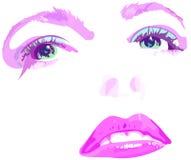 różowy twarzy Zdjęcie Royalty Free