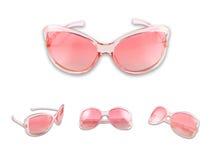 różowy ustalony sunglasse Obrazy Royalty Free
