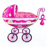 różowy wózek Fotografia Stock