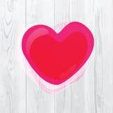 różowy walentynki serca Fotografia Stock