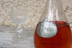 Różowy wino Zdjęcie Stock
