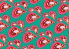 różowy wzór bindi zielone. Obraz Stock