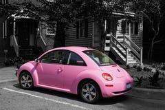 Różowy Zapluskwiony samochód Zdjęcie Royalty Free
