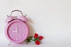 Różowy zegar Zdjęcie Stock