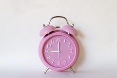 Różowy zegar Fotografia Royalty Free