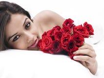 róży azjatykcia kobieta Obrazy Royalty Free