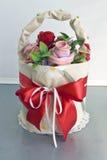 róży koszykowy wtith Zdjęcia Stock