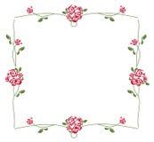 Róży rama Fotografia Royalty Free