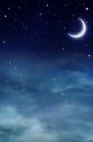Śródnocny niebo Obraz Royalty Free