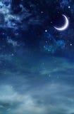 Śródnocny niebo Zdjęcie Stock