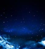 Śródnocny niebo Zdjęcia Royalty Free