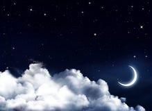 Śródnocny niebo z gwiazdami Fotografia Royalty Free