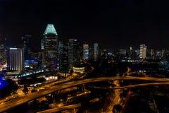 Śródnocny Singapur Obraz Royalty Free