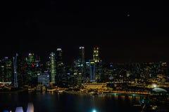 Śródnocny Singapur Zdjęcia Stock