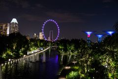 Śródnocny Singapur Zdjęcie Stock