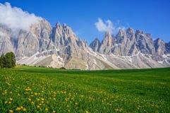 śródpolne zielone góry Zdjęcie Royalty Free