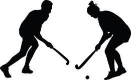 Śródpolnego hokeja sylwetki wektor Zdjęcie Royalty Free
