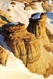 śródpolni Alberta hoodoos Zdjęcie Royalty Free