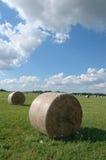 śródpolni haystacks Zdjęcia Stock