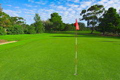 śródpolny golfa zieleni krajobraz Obraz Royalty Free