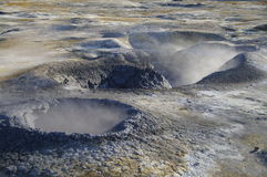 śródpolny hverir Iceland solfatare Obrazy Stock
