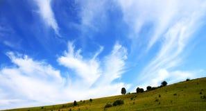 śródpolny niebo Fotografia Royalty Free