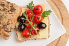 śródziemnomorska kanapka Zdjęcia Royalty Free