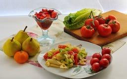 Śródziemnomorska kuchnia Obraz Royalty Free