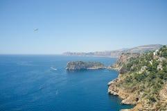 Śródziemnomorska linia brzegowa Obrazy Stock