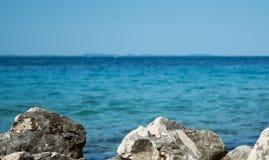 Śródziemnomorska linia brzegowa przy Petrcane, blisko Zadar Zdjęcie Stock