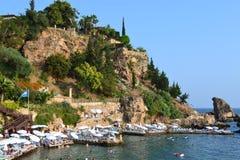 śródziemnomorski brzeg Fotografia Stock