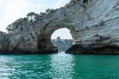 śródziemnomorski brzeg Zdjęcia Royalty Free