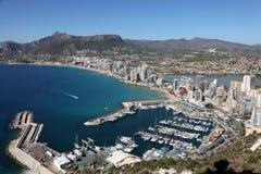 śródziemnomorski Calpe kurort Spain Zdjęcia Stock