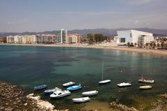 Śródziemnomorski grodzki Aguilas Hiszpania Obraz Stock