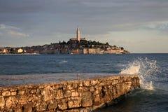 Śródziemnomorski grodzki Rovinj, Chorwacja Obrazy Royalty Free