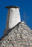 Śródziemnomorski komin na Adriatyckiej wyspie Brac Fotografia Royalty Free