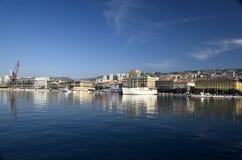 Śródziemnomorski port Rijeka Zdjęcia Royalty Free