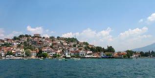 śródziemnomorski stary denny miasteczko obrazy royalty free