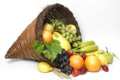 róg obfitości 4 owoców Obraz Royalty Free