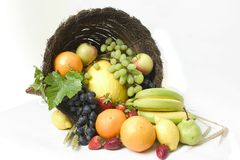 róg obfitości 3 owoców Obrazy Stock