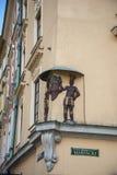 Róg Ulicy rzeźba w Krakow w Polska Obrazy Royalty Free