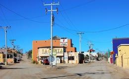 Róg ulicy w Cholla zatoce, Meksyk Fotografia Royalty Free