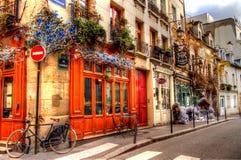 Róg ulicy w Paryż zdjęcia royalty free