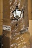 Róg ulicy z lampą obrazy royalty free