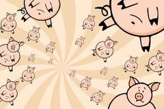 rój świń ilustracja wektor