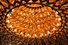 Rój światło i stal iluminujący przy nocą zdjęcia royalty free