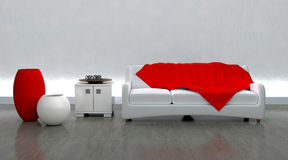 rówieśnik moderen położenie kanapę ilustracji