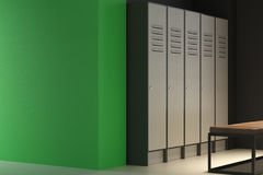 Rówieśnik zielona szatnia z pustą ścianą ilustracji